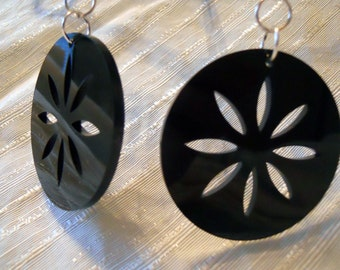 Laser cut citrus earrings
