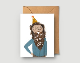 Happy Birthday Card - Happy Beardthday