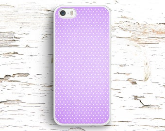 Simple Purple Texture, White Dots, iPhone 7 6S 6 SE 5S 5 5C 4S, Samsung Galaxy S6 Edge S5 S4 S3, LG G4 G3, Sony Xperia Z5 Z3, HTC One M8