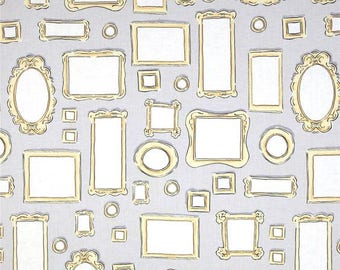 Let's Pretend, My Art Gallery, Sarah Jane, Micheal Miller, Fat Quarter, 1/2 Yard, picture frames, quilting fabric, dc5831, masquerade, gray