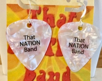 That NATION Band Guitar Pick Earrings