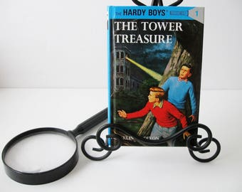 Hardy Boys Book #1, Vintage Hardy Boys Books The Tower Treasure by Franklin W. Dixon, Mystery Books For Teens Tweens 1987, Book Decor