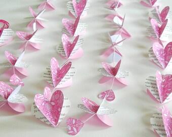 3D paper hearts Garland