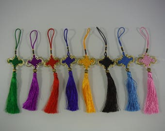 Set of 8 Chinese knot/good luck/tassel/charms/decoration/traditional style/pendant hanging/home decor/supply