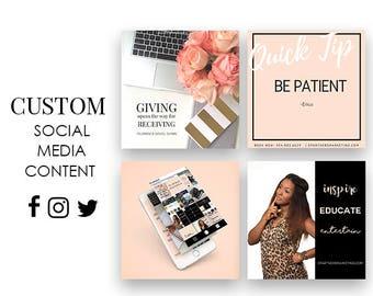 Custom Social Media Branding Content   Beauty Blogger   Hair Salon