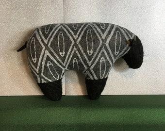 Safety Pin Black Sheep plush