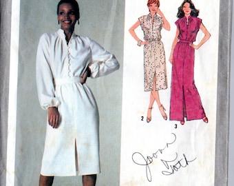 Vintage 70's Dress Pattern: Simplicity 9224; size 14, bust 36; Disco! Secretary! So versatile! c. 1979