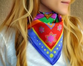 VITALITY cotton scarf, rainbow, bandana, mothers day gift, gift for her, mandala scarf, gift women, birthday, gift for mom