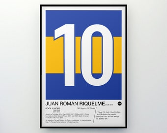 Juan Román Riquelme - #10 - Boca Juniors - Poster Print