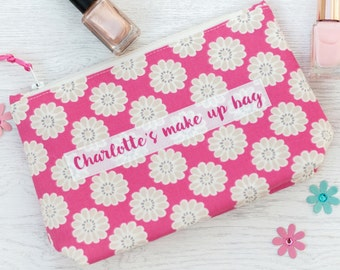 Personalised Make Up Bag - makeup bag - gift for her - mothers day gift - bridesmaid gift - personalized make up organizer - cosmetic bag
