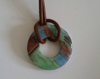 Washer Pendant Necklace