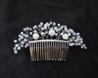 Bridal Hair Comb Wedding beaded hair comb Wedding hair accessories Bridal hair comb rhinestone