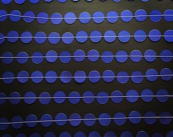 Dark Blue Paper Garland