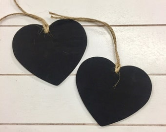 Heart Blackboard Tag - Large pack of 10