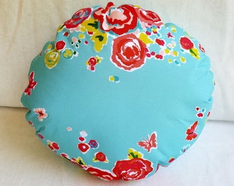Round Flower Pillow