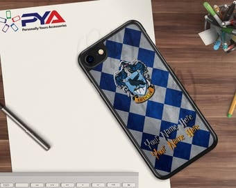 Harry Potter Phone Case - Personalized with a Name Ravenclaw House of Hogwarts Checkerboard Phone Case for Apple iPhone & iTouch Devices