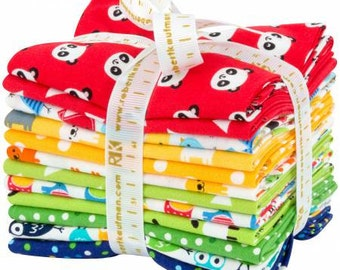 Urban Zoologie mini fabric bundle primary colors from Robert Kaufman