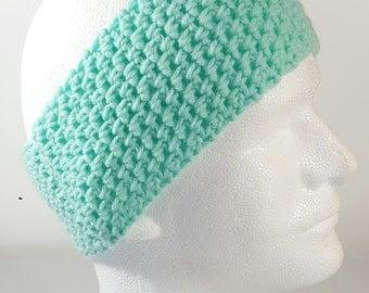 Crochet Teal Earwarmer