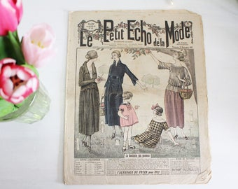 Vintage French Fashion Magazine - 1920's - Le Petit Echo de La Mode - 18th September 1921