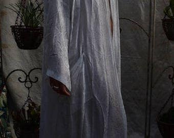 Egyptian White Silk Gown