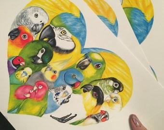 Bird heaven prints