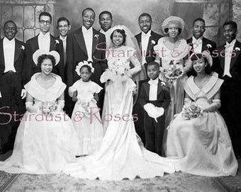 ANTIQUE WEDDING DOWNLOAD - Instant Digital PHoTo - Wedding Junk Journal African American Altered Art to Frame Bride and Groom Gift no1616