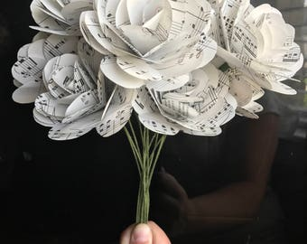 Music Page Paper Roses - Dozen