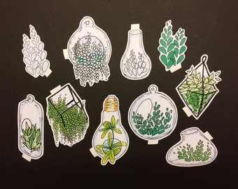 50% OFF SALE Modern plants sticker set