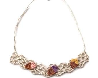 Icecream crochet necklace