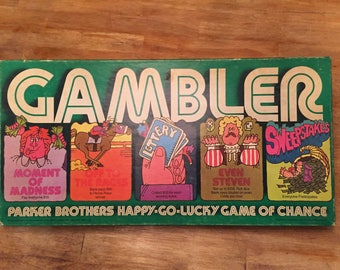 1977 Complete Gambler vintage board game by Parker Brothers No. 49