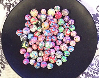 75 piece assorted polymer clay beads