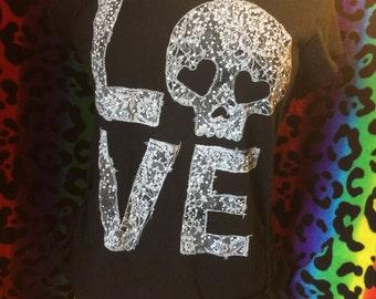 M/L Lace Love Skull