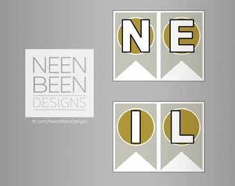 Name Banner, Gold and Silver