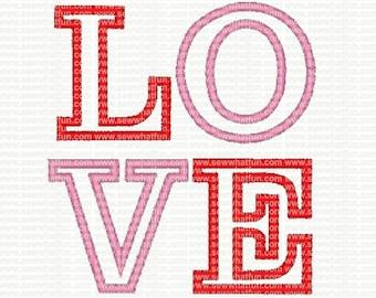 LOVE Applique Embroidery Design, applique LOVE embroidery, applique LOVE stitch design, embroidery, valentines embroidery design, valentines