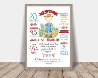 First Birthday Poster Farm Boy