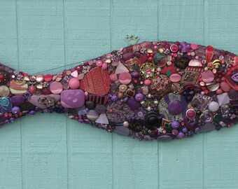 Tropical Pink and Purple Fish #6133