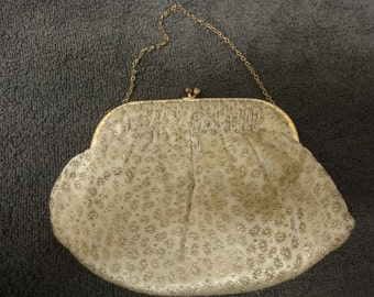 Art Deco clutch evening bag with gold chain from the golden era of the 1920s