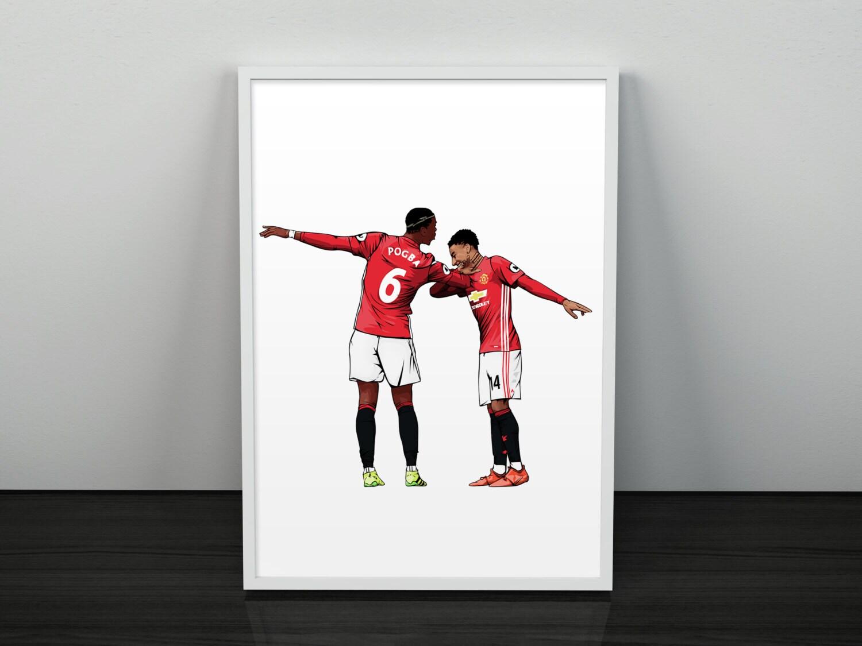 Pogba & Lingard Dab Celebration Manchester United Poster