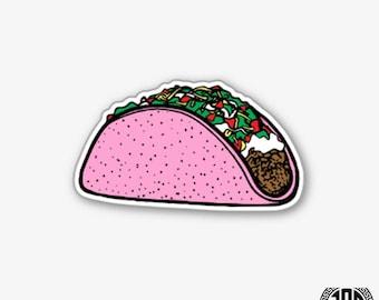 Pink Taco Tuesday - Die Cut Sticker
