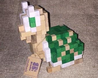 Koopa inspired 3D-Holzskulptur