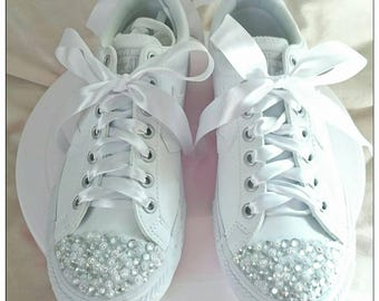 Customised converse/ Rhinestone converse/ Gem Converse/ Wedding Converse