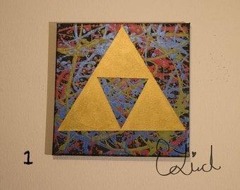 Splattered Triforce Painting