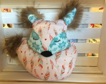 Fox trimmed with recycled fur Teddy