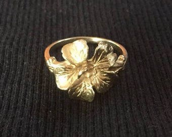 14k Gold Flower Ring Vintage