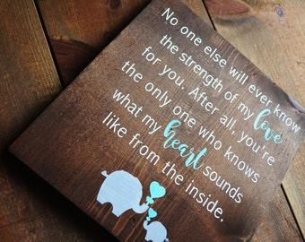 Elephant Nursery Sign | Elephant Theme | Baby Shower Gift | Mom To Be | Nursery Decor | Baby Love