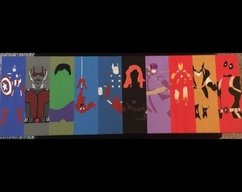 Superhero Minimalist Collage Canvas