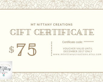 gift certificate, gift card, gift card printable, gift certificate printable, money, fifty, gift mom, gift for mom, gift for women, gift