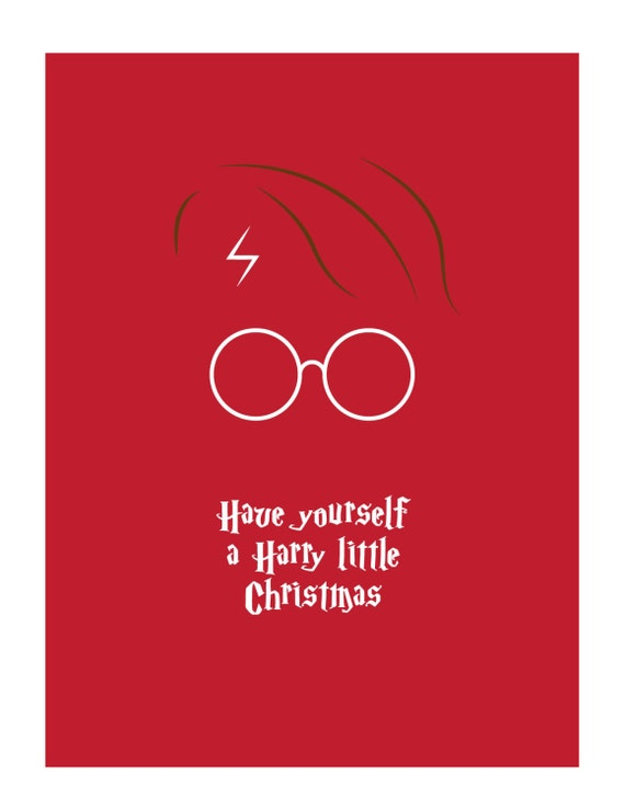6-Pack Harry Potter Christmas Card Merry Christmas Have