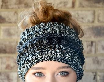 Messy Bun Beanie, Crochet Messy Bun Beanie, Messy Bun Hat, Ponytail Beanie, Crochet Bun Beanie, Crochet Ponytail Beanie, Ponytail Hat