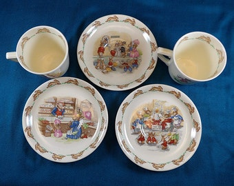 Royal Doulton England Bunnykins Collectable Cups and Saucers